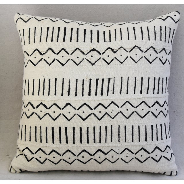 Boho-Chic Mali Mud Cloth Tribal Design Pattern Pillows - A Pair For Sale - Image 5 of 10