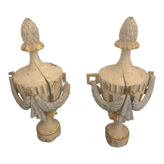 18th Century Antique Portuguese Finials - a Pair For Sale