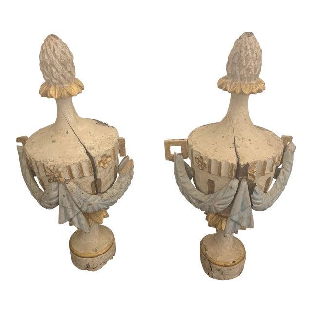 18th Century Antique Portuguese Finials - a Pair For Sale