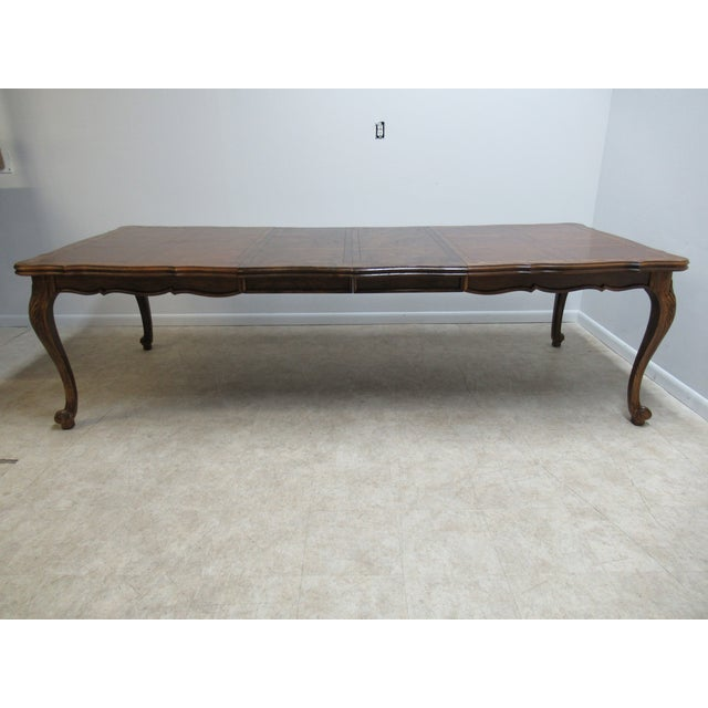 Brown Vintage Century Furniture Country French Oak DiningTable For Sale - Image 8 of 13
