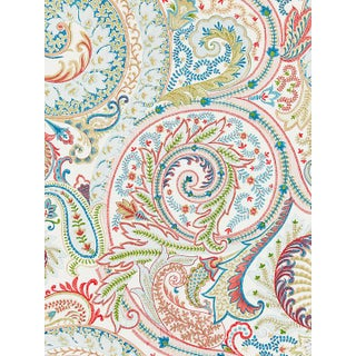 Scalamandre Malabar Paisley Embroidery Bloom Fabric For Sale