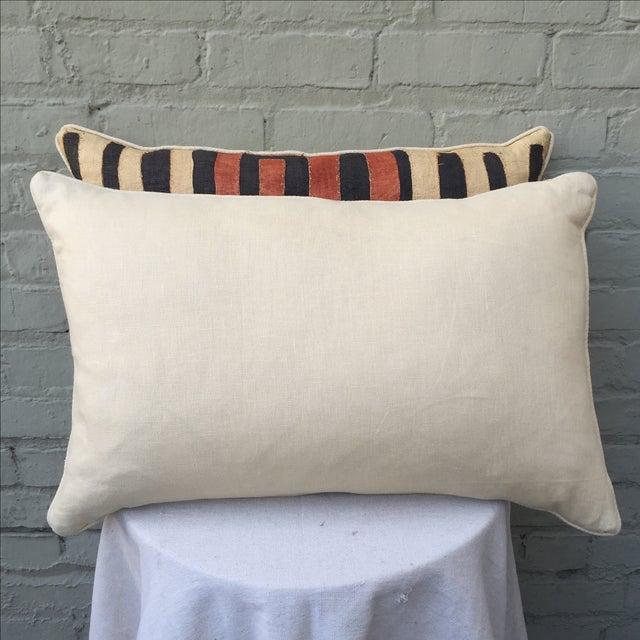 African Kuba Cloth Pillows - Pair - Image 5 of 5