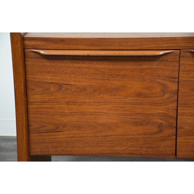 Brown Danish Teak MCM Filing Cabinet For Sale - Image 8 of 11