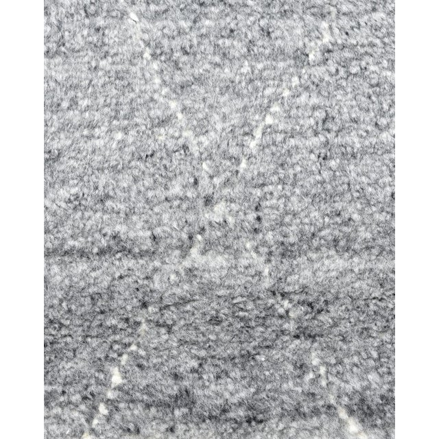 Shaggy Moroccan, Bohemian Shaggy Moroccan Hand Knotted Area Rug, Gray, 8 X 10 For Sale - Image 4 of 9