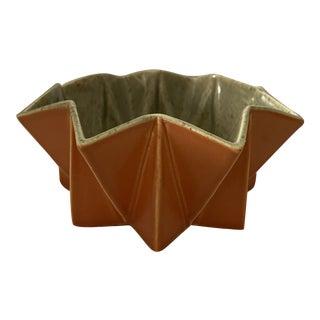 Glazed Orange Decorative Bowl For Sale
