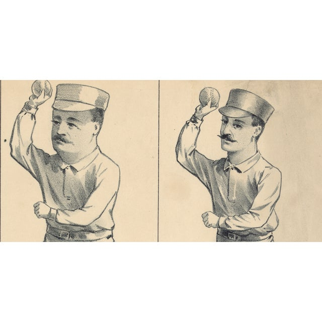 Evolution of a Pitcher, Baseball Print from 1800s - Image 3 of 3