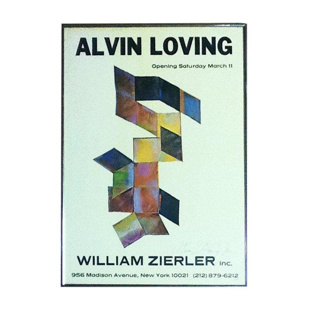Rare Signed Alvin Loving Poster Exhibition at William Zierler Gallery For Sale