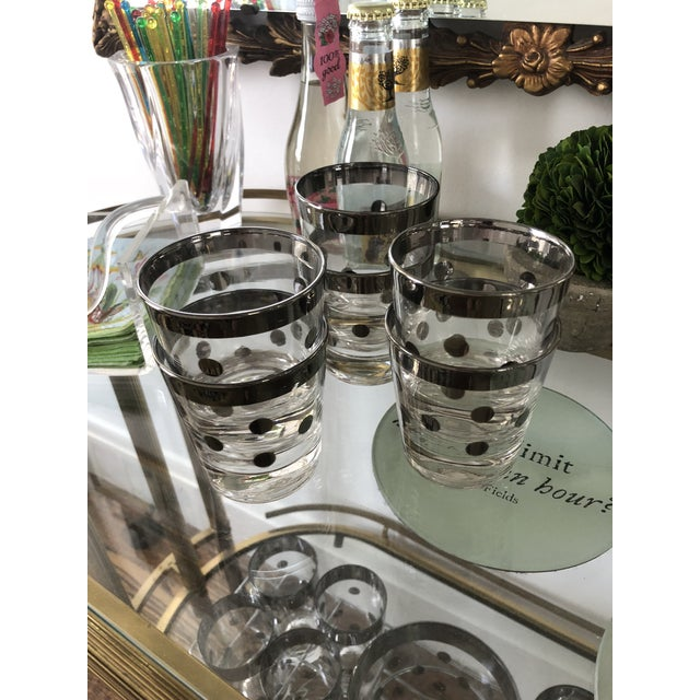 Dorothy Thorpe Dorothy Thorpe Polka Dot Glasses - Set of 6 For Sale - Image 4 of 5