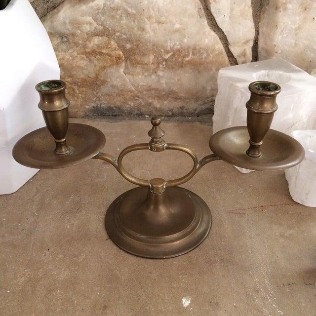 English Brass Candelabra - Image 4 of 8