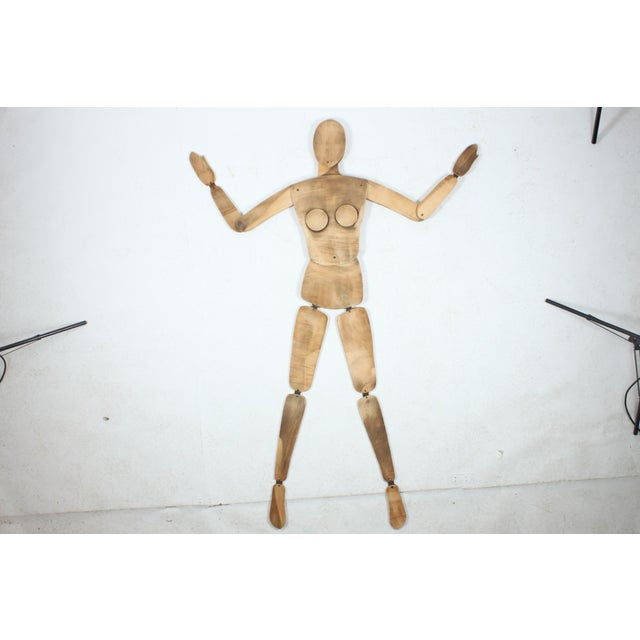 French Wood Mannequin, Female - Image 2 of 5