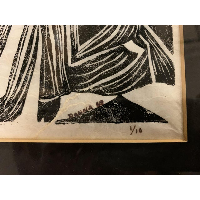 Mid Century Geisha Print Signed, Donna For Sale In New York - Image 6 of 9