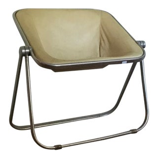 Giancarlo Piretti for Castelli Plona Leather & Aluminum Folding Chair