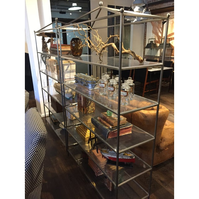 Chrome Mid-Century Modern Chrome & Lucite Etagere For Sale - Image 7 of 8