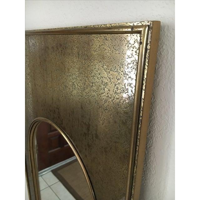 Vintage Mastercraft Brass Arch Rectangular Mirror - Image 6 of 7