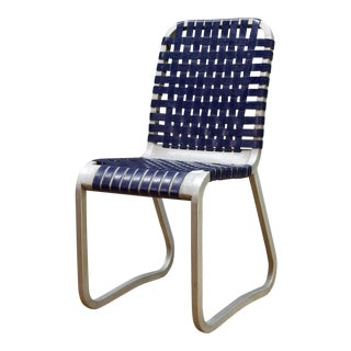 Pittsburgh Range Company Blue and Aluminium Side Chair For Sale