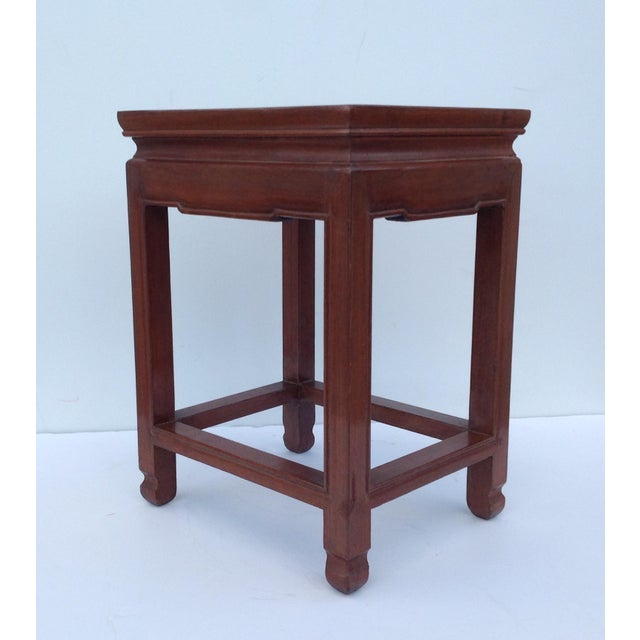 Asian Asian Oak Low Occasional Side Table For Sale - Image 3 of 11