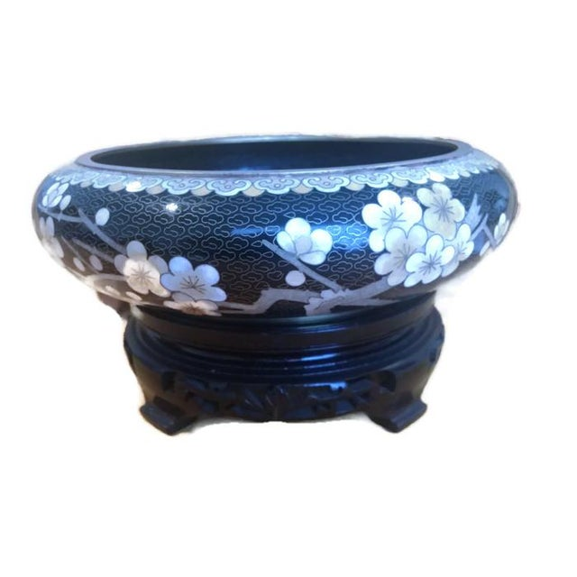 vintage decorative chinese cloisonne enamel bowl chairish. Black Bedroom Furniture Sets. Home Design Ideas