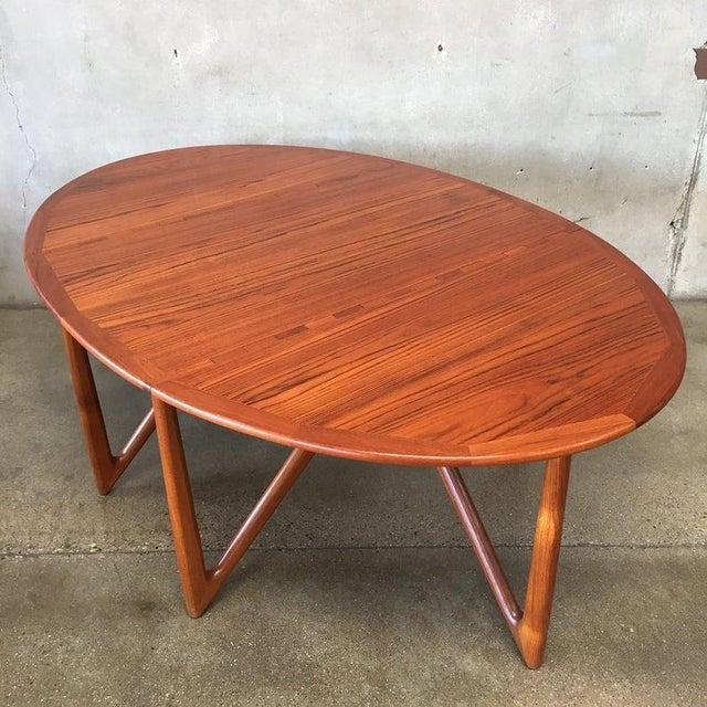 """Vintage Danish Teak """"Gateleg"""" Drop Leaf Dining Table by Kurt Østervig for Jason Møbler For Sale - Image 10 of 10"""