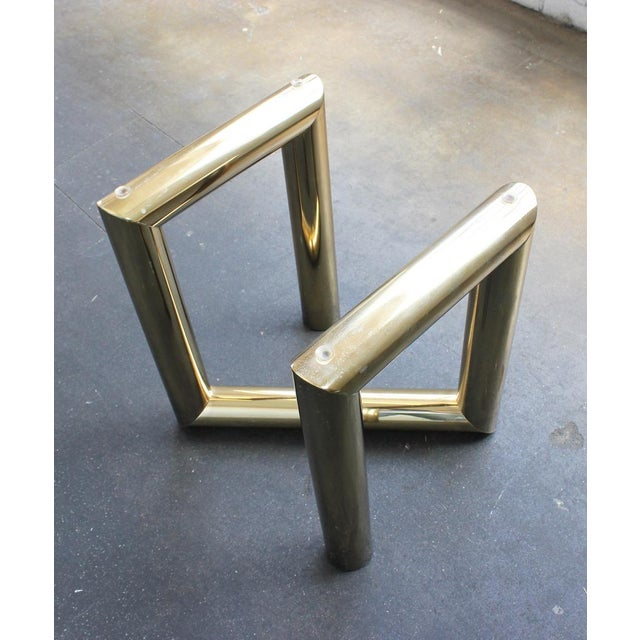 Pace Brass and Glass Side Table - Image 5 of 7