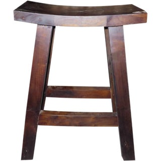 Indonesian Teak Counter Stool For Sale