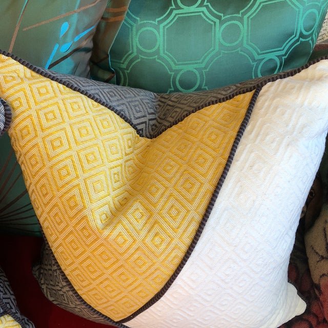 Custom Pillows in Jim Thompson Outdoor Fabric - A Pair - Image 6 of 9