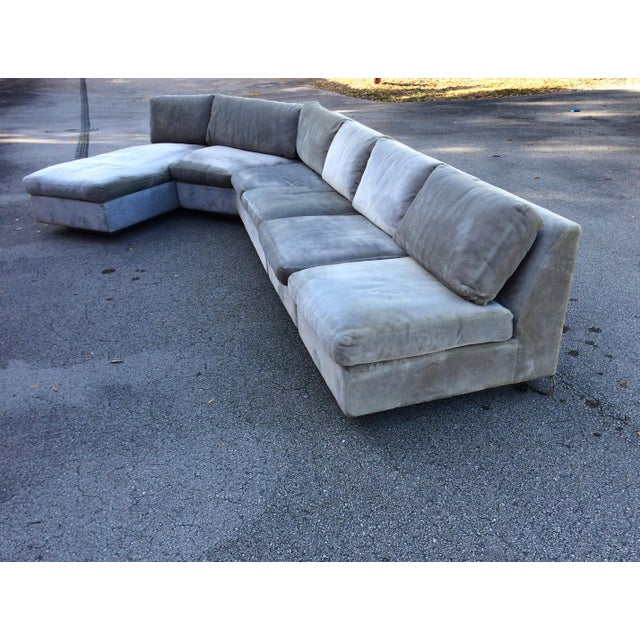 1960s Mid-Century Modern Curved Sectional Sofa Style of Harvey Probber - Image 3 of 11