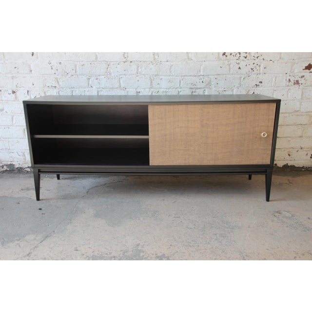 Birch Paul McCobb Planner Group Mid-Century Modern Ebonized Low Credenza For Sale - Image 7 of 11