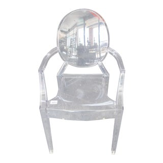 Early 21st Century Kartell Louis Ghost Acrylic Arm Chair For Sale