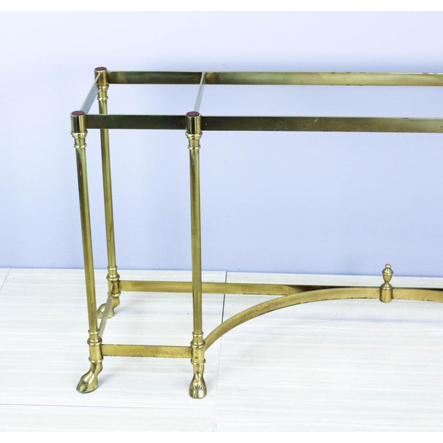 Italian Brass Hoof Foot Console For Sale - Image 4 of 10