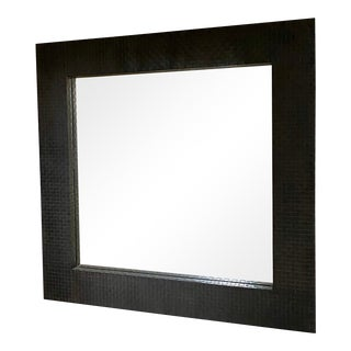 Large Woven Metal Mirror For Sale