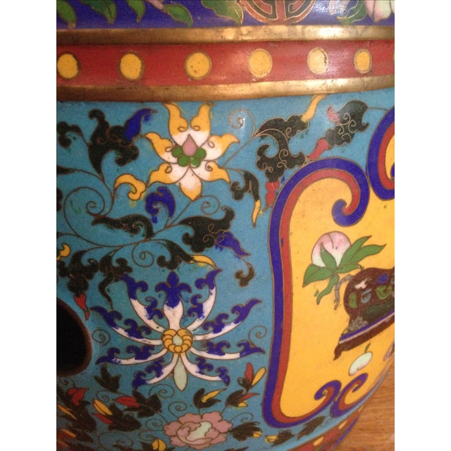 19th Century Chinese Cloisonne Garden Stool - Image 7 of 7