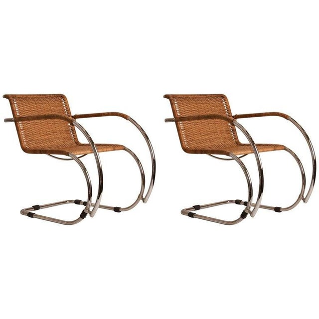 Pair of Mid-Century Mies Van der Rohe MR20 Chairs - Image 4 of 4