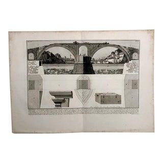 "Piranesi ""View of the Bridge Fabricius"" Engraving For Sale"