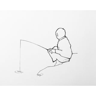 ''Gone Fishing'' Drawing For Sale