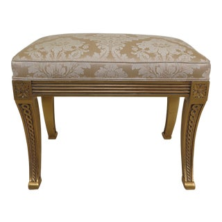 21st Century Vintage Karges Gold Gilt Regency Stool For Sale