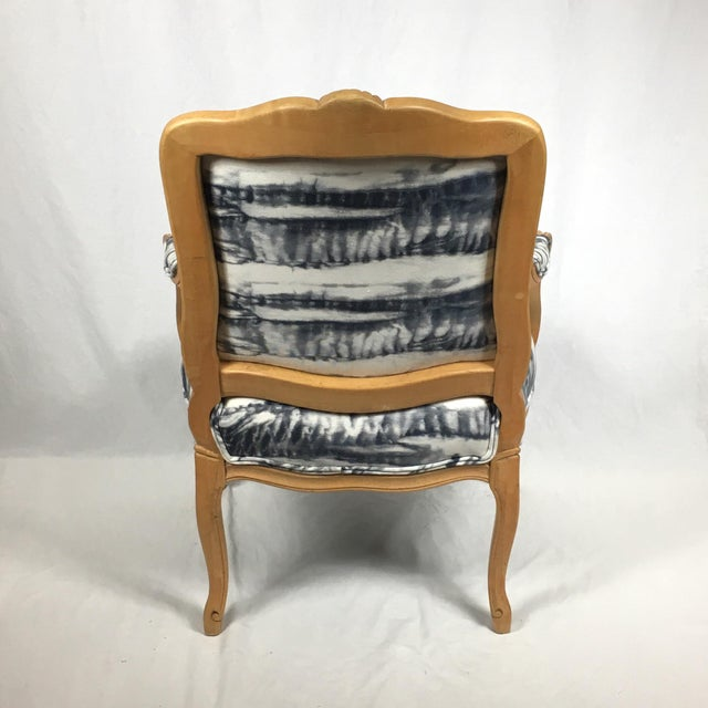 Hand Dyed Shibori Side Chair For Sale - Image 5 of 6