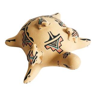 Vintage South Western Pueblo Art Pottery Turtle For Sale
