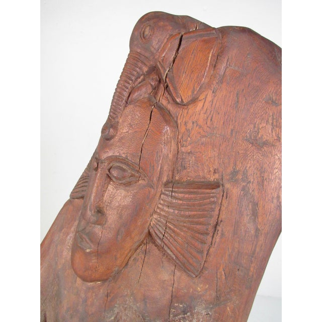 Late 20th Century Large Tribal Hand Carved Sculpture For Sale - Image 5 of 11