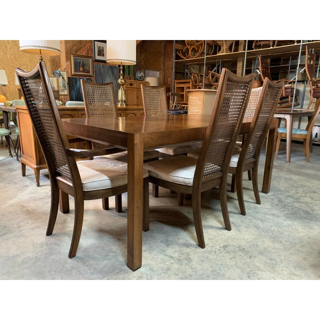 Mid-Century Modern Baughman Style Mid-Century Modern American of Martinsville Dining Table and Chairs -- Set of 7 For Sale - Image 3 of 13