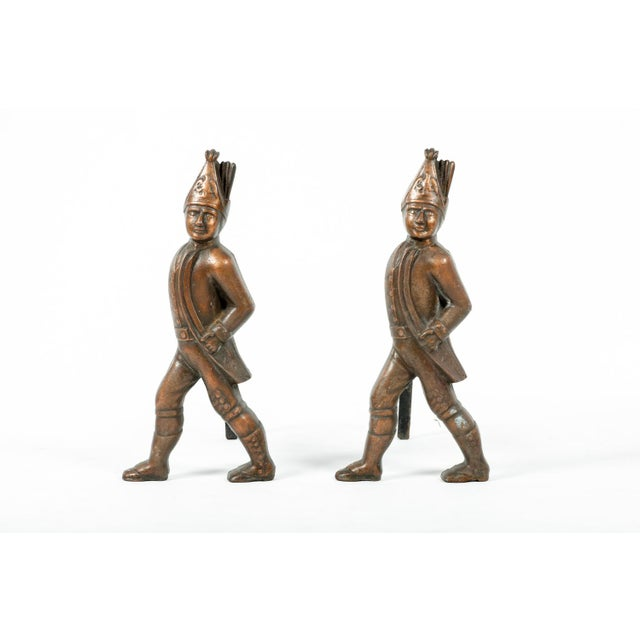 Figurative Pair of Hessian Soldier Figural Andirons For Sale - Image 3 of 7