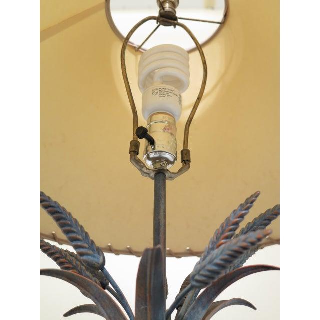 Decorator Metal Wheat Sheaf Design Table Lamp For Sale In Philadelphia - Image 6 of 7