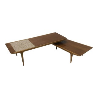 1960s Danish Modern Lane Furniture Two-Part Coffee Table For Sale