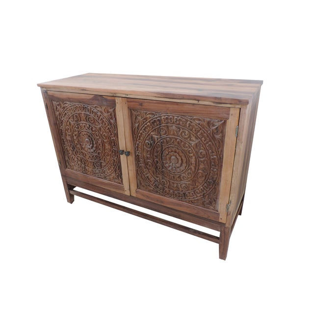 Carved Lotus Cabinet - Image 2 of 3