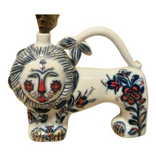 Lomonsov Imperial Lion Porcelain Decanter; Decorative Vase For Sale