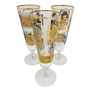 Set Vintage Cocktail Glasses For Sale