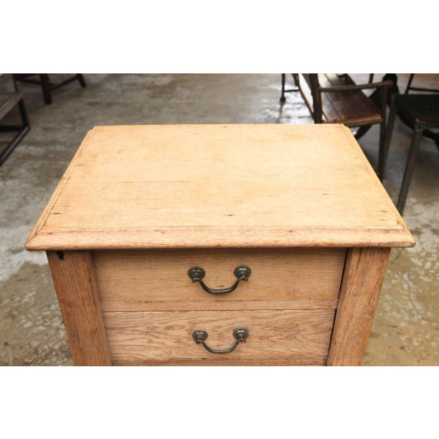 Mid-Century Modern 19th Century Wellington Chest in Bleached Oak For Sale - Image 3 of 9