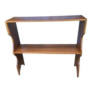Antique Wooden Bookcase Shelf For Sale