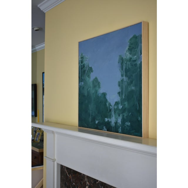 "Green ""Evening Calls"" Contemporary Painting by Stephen Remick For Sale - Image 8 of 11"