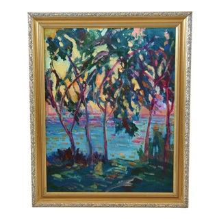 Juan Pepe Guzman Seascape Landscape Impressionist Oil Painting For Sale