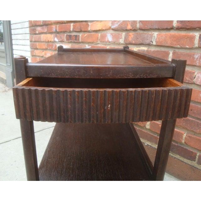 Early 20th Century Vintage Streamline Moderne Tea Cart or Bar Cart Art Deco For Sale - Image 5 of 12